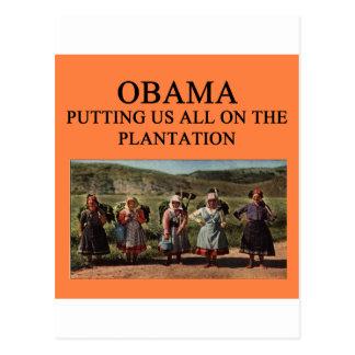 anti obama plantation postcard