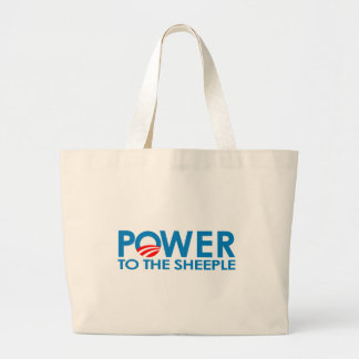ANTI-OBAMA - POWER TO THE SHEEPLE CANVAS BAG