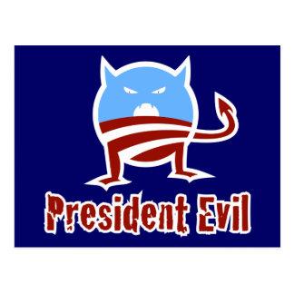 Anti-Obama President Evil Postcard