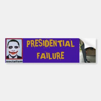 Anti-Obama Presidential Failure Bumper Sticker