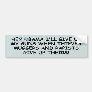 Anti Obama pro guns no more Obama Car Bumper Sticker