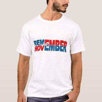 "anti Obama ""Remember in November"" sticker T-Shirt"