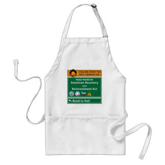Anti-Obama: Road To Hell Paved With Stimulus Adult Apron