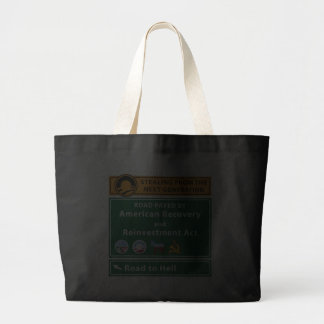 Anti-Obama: Road To Hell Paved With Stimulus Canvas Bag