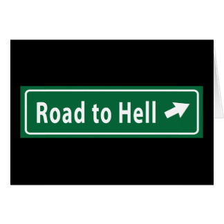 Anti-Obama: Road To Hell Paved With Stimulus Card