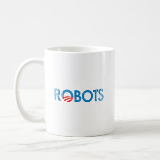 ANTI-OBAMA - ROBOTS Faded png Taza De Café