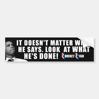 Anti Obama - Romney Ryan Bumper Sticker