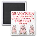 anti obama shirt 2 inch square magnet