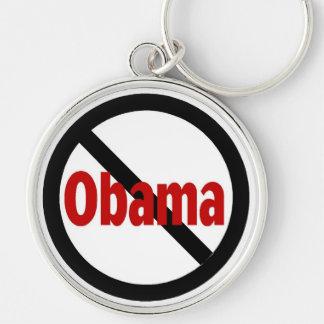 Anti Obama Silver-Colored Round Keychain