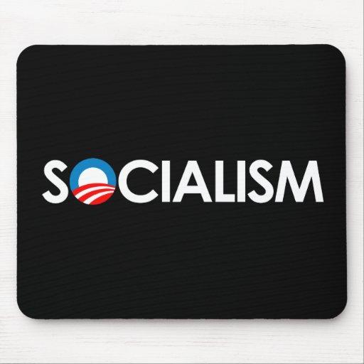 Anti-Obama - Socialism white Mouse Pad