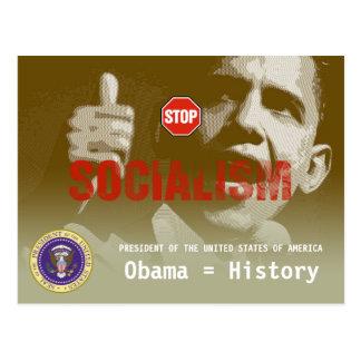 Anti-Obama - socialismo de la PARADA - postal