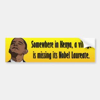 Anti Obama - Somewhere in Kenya Bumper Sticker