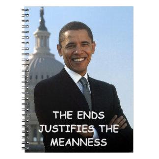 anti obama spiral notebook