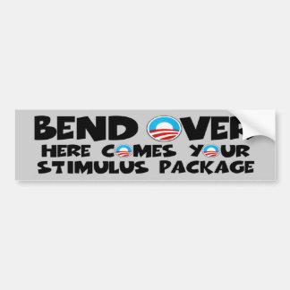 Anti Obama stimulus package Bumper Sticker