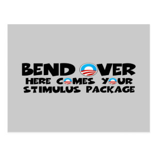 Anti Obama stimulus package Postcard