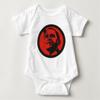 anti obama stop sign 1 baby bodysuit