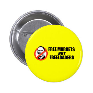 Anti-Obama T-shirt - Free Markets Button