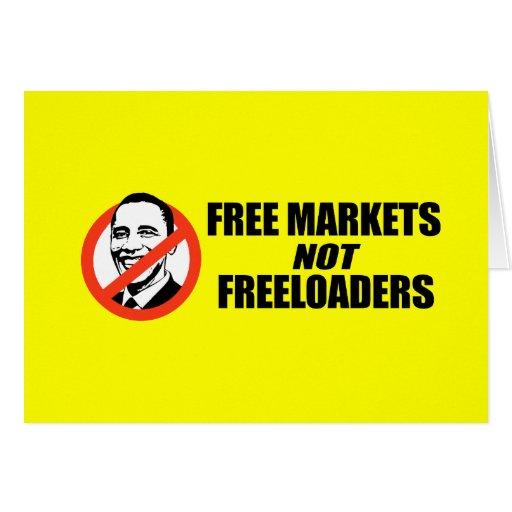 Anti-Obama T-shirt - Free Markets Card