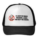 Anti-Obama T-shirt - You keep the change Trucker Hat