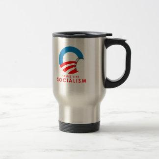 Anti-Obama - Tastes like Socialism T-SHIRT Travel Mug
