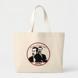 "Anti Obama ""Tea Party"" Gear Large Tote Bag"