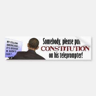 Anti Obama Teleprompter Car Bumper Sticker