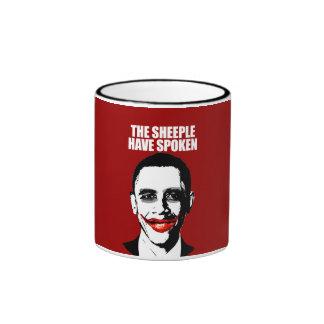 ANTI-OBAMA- The Sheeple have spoken Ringer Coffee Mug