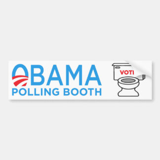 Anti-Obama Toilet Bumper Sticker