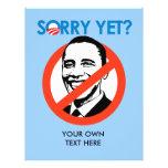 Anti-Obama - triste todavía Tarjetas Informativas