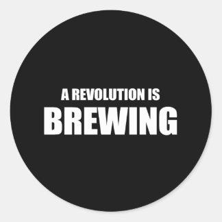 Anti-Obama - una revolución está elaborando cervez Etiqueta
