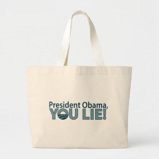 ¡Anti-Obama usted miente! Bolsa Tela Grande