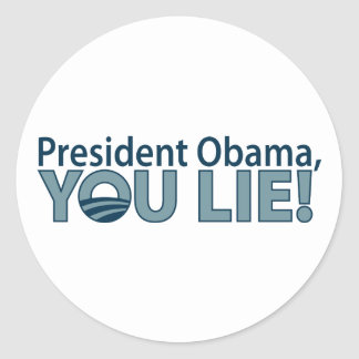 ¡Anti-Obama usted miente! Pegatina Redonda