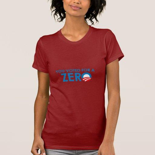 Anti-Obama - usted votó por un cero Camisetas