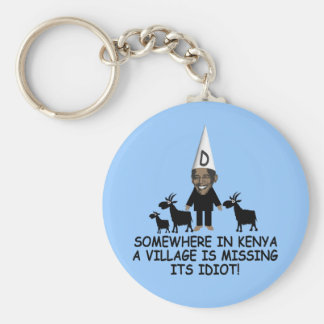 Anti Obama,village idiot Keychain