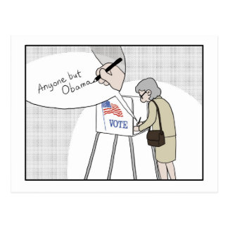 "Anti-Obama Voters say:  ""Anyone But Obama"" Postcard"