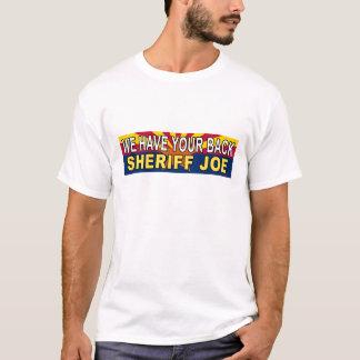 "anti Obama ""We Have Your Back Sheriff Joe"" Sticker T-Shirt"