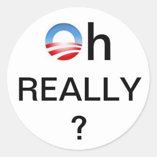 Anti-Obama Window Decal Round Sticker