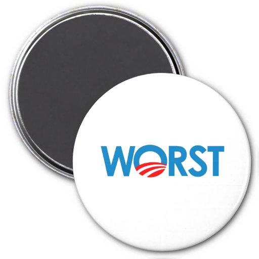 ANTI-OBAMA - WORST-.png Refrigerator Magnet