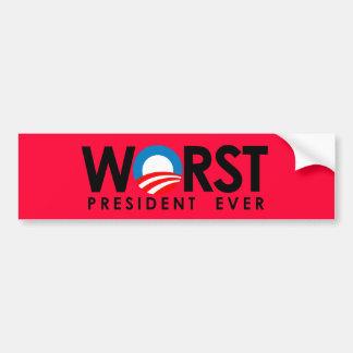 Anti-Obama - Worst President Ever black Bumper Sticker