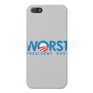 ANTI-OBAMA - WORST PRESIDENT EVER- Faded.png iPhone 5 Case