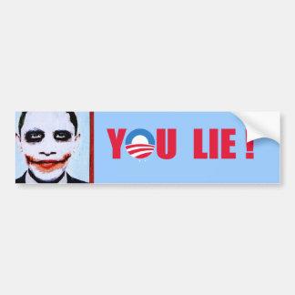 Anti-Obama - You Lie Bumper Stickers