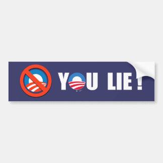Anti-Obama - You Lie Bumper Sticker white