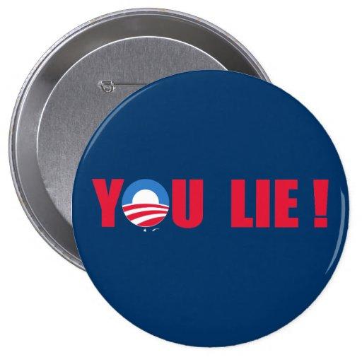 Anti-Obama - You Lie Pinback Button