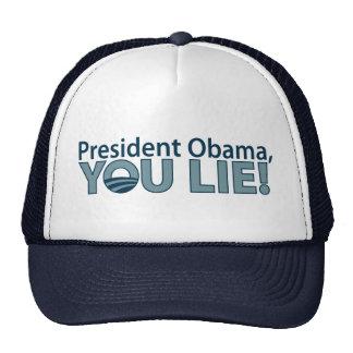 Anti-Obama You Lie! Trucker Hat