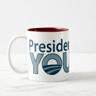Anti-Obama You Lie! Two-Tone Coffee Mug