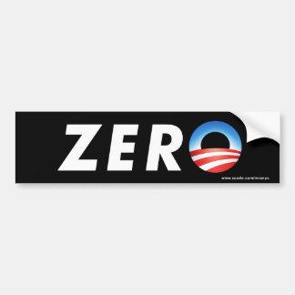 """anti Obama """"Zero"""" bumper sticker Car Bumper Sticker"""
