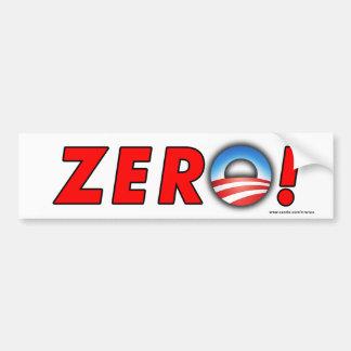 """anti Obama """"Zero!"""" bumper sticker Car Bumper Sticker"""
