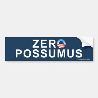 """anti Obama """"Zero Possumus"""" sticker Car Bumper Sticker"""