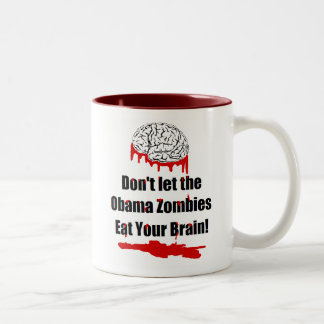 Anti Obama zombie political mugs and cups