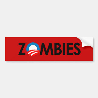 Anti-Obama - Zombies black Bumper Sticker